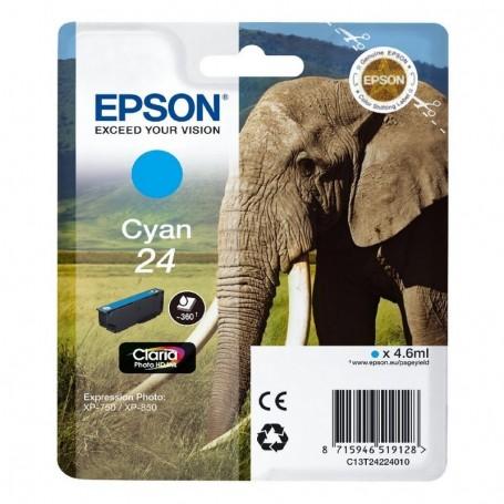 Epson T24 CIAN ORIGINAL