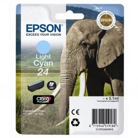Epson T24 CIAN CLARO ORIGINAL