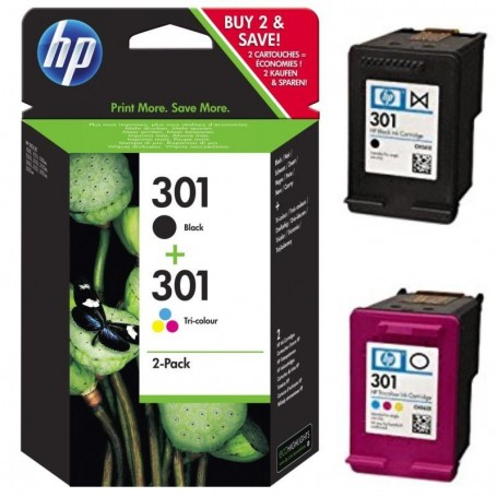 HP 301 NEGRO Y COLOR PACK 2...