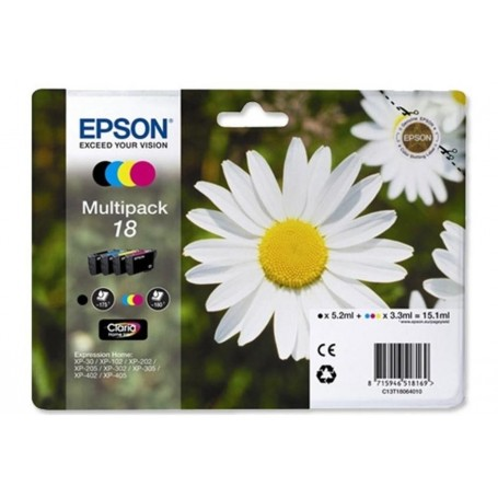 Epson T18 PACK 4 COLORES...