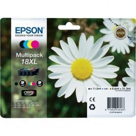 Epson T18 XL PACK 4 COLORES ORIGINAL