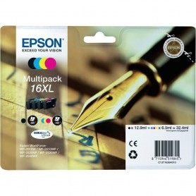 Epson T16 XL PACK 4 COLORES...