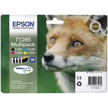 Epson T1285 PACK 4 COLORES...