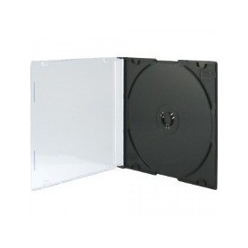 100 CAJA MINI CD  DVD NEGRA