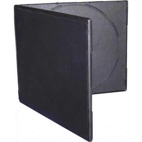 20 CAJA 2 CD  DVD NEGRO SLIM