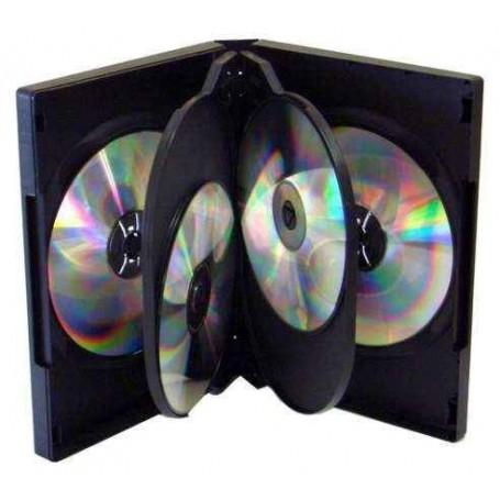 5 CAJA ARCHIVADOR 6 DVD NEGRO