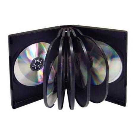 5 CAJA ARCHIVADOR 12 DVD NEGRO