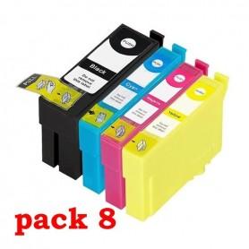 EPSON T34 XL PACK 8 COLORES COMPATIBLE