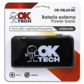 Bateria Externa  Power Bank OkTech OKPBL65BK 6500mAh