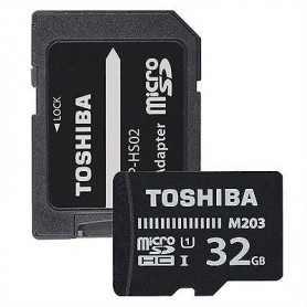 Toshiba THNM203K0320EA Micro SDHC 32GB Clase 10 100MBs UHSI  Adaptador SD