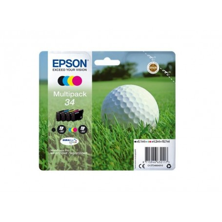EPSON T34 PACK 4 COLORES...