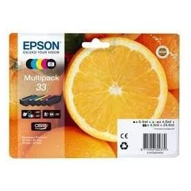 Epson T33 PACK 5 COLORES ORIGINAL