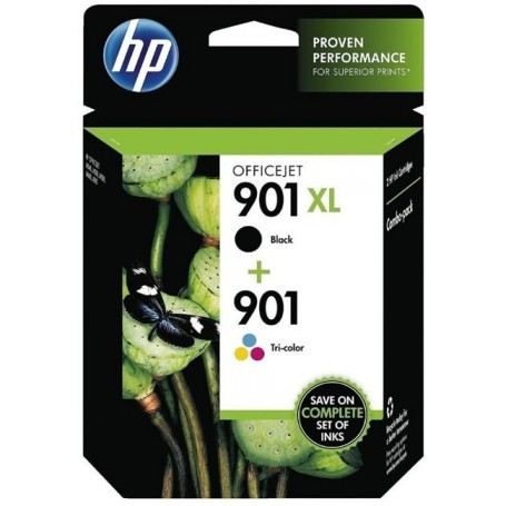 HP 901 PACK NEGRO Y COLOR...