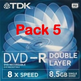 TDK DVDR DOBLE CAPA PACK 5