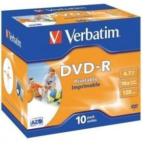 VERBATIM DVDR PRINTABLE PACK 10