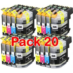 Brother LC223 PACK 20 COMPATIBLE