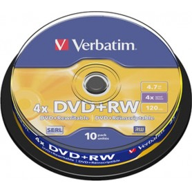 Verbatim DVD+RW Regrabable 4x 4.7GB (Tarrina 10 Uds)