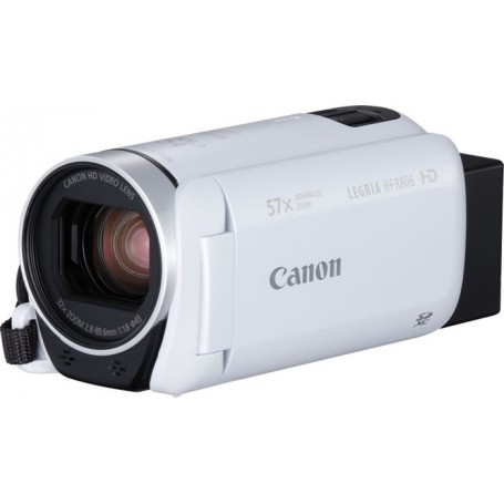 "Videocámara digital Canon Legria HF R806 blanca FULL HD 3.28mp 32zo 1.140xzd pantalla táctil 3"""" HDMI"