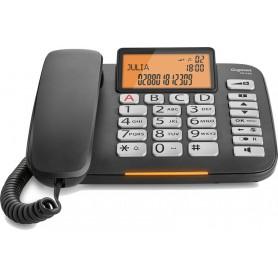 Teléfono fijo Gigaset DL580 negro 99 números agenda 10 tonos