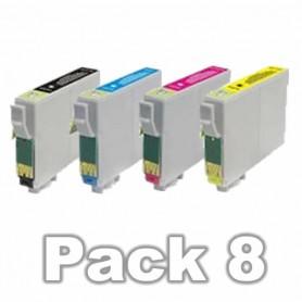 Epson T0715 PACK 8 COLORES COMPATIBLE