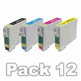 Epson T0715 PACK 12 COLORES COMPATIBLE