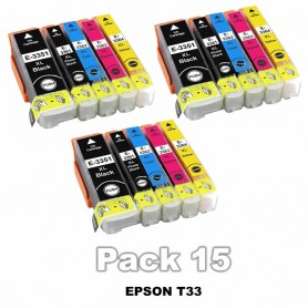 Epson T3357 PACK 15 COLORES COMPATIBLE