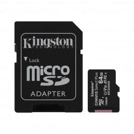 Kingston Tarjeta Micro SDXC 64GB Clase 10 100MB/s Canvas Select Plus + Adaptador SD