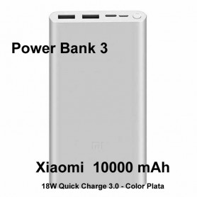 Bateria Externa  Power Bank Xiaomi MI PowerBank 3 - 10.000 mAh