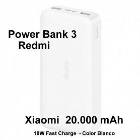 Bateria Externa  Power bank Xiaomi 20.000mAh Redmi
