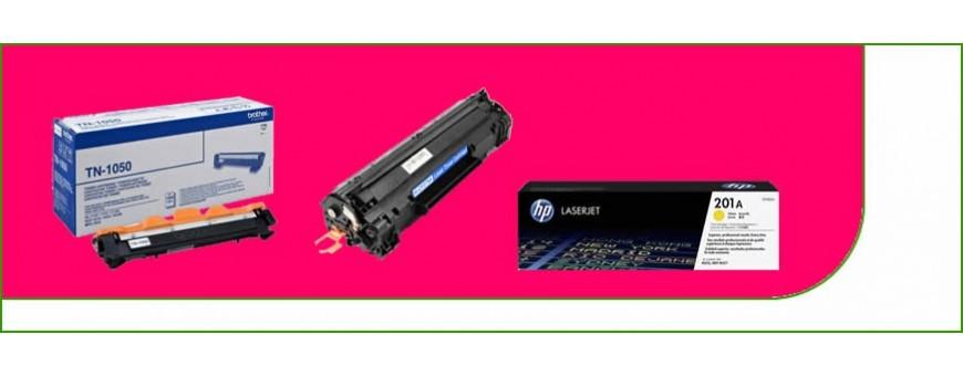 Cartuchos de tóner láser para impresoras.